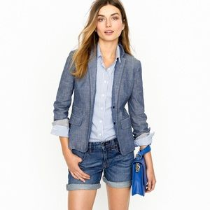 JCREW linen chambray blazer